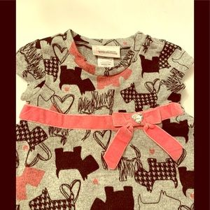 Youngland Dress Pink Bow With Heart Crystal 18 Mo.